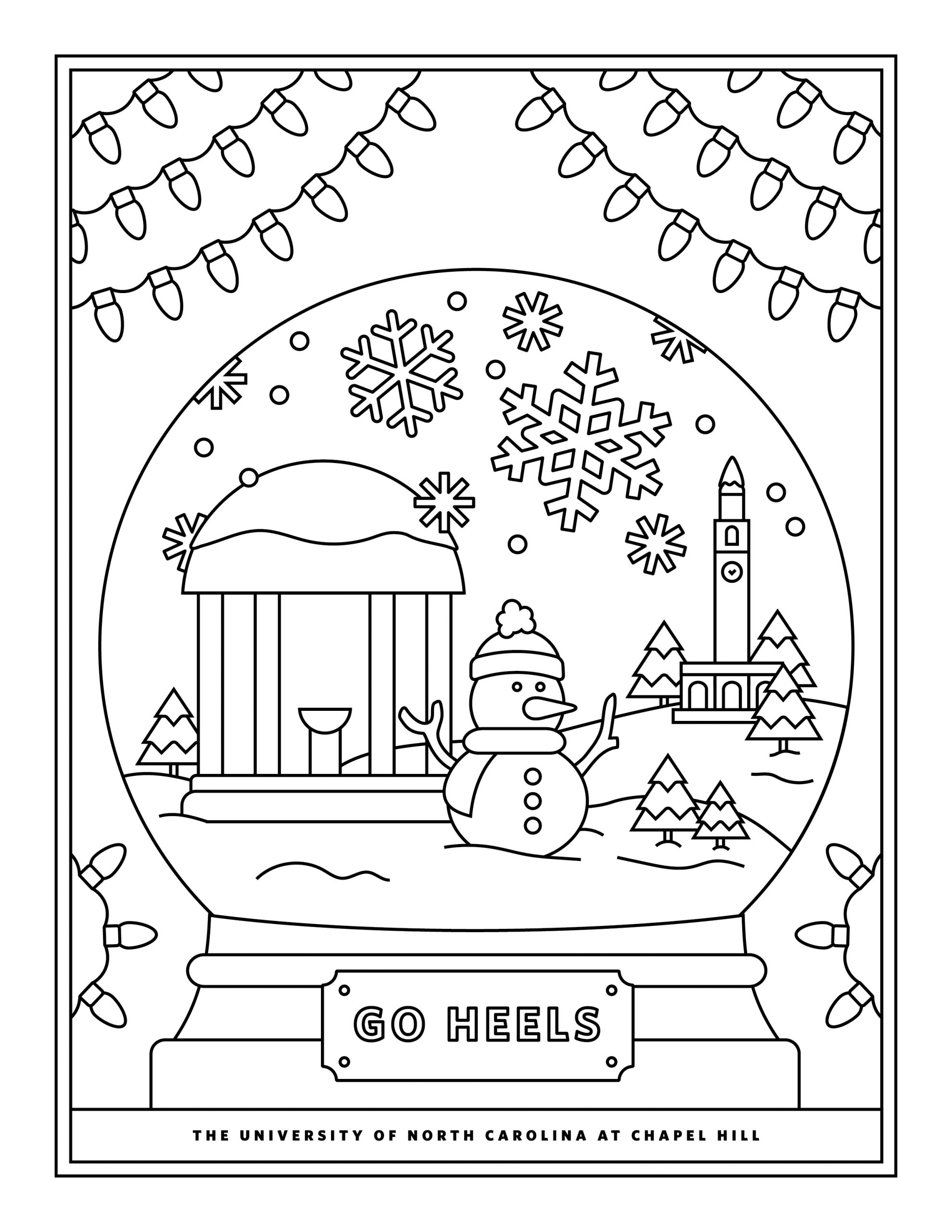 Coloring Pages Happy Holidays